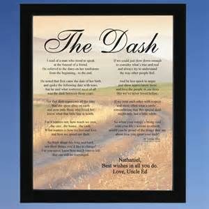 The words to the poem the dash are many the poem is 9 paragraphs