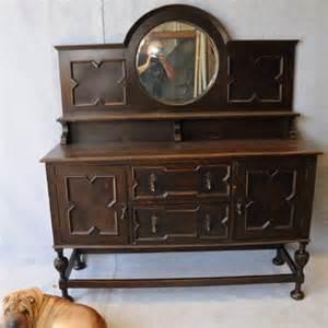 Jacobean Sideboard Buffet Oak Jacobean Style Mirror Back Sideboard Sideboards