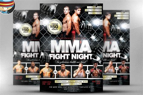 ufc card template mma fight flyer template flyer templates on