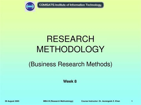 Research Methodology Ppt For Mba by Ppt Research Methodology Powerpoint Presentation Id 317188