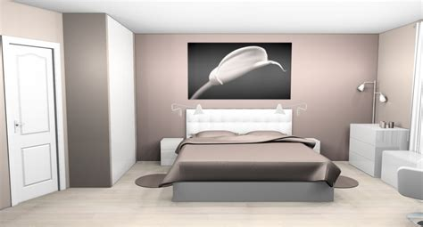 Chambre Taupe Et Blanche by D 233 Co Chambre Taupe Et Blanc