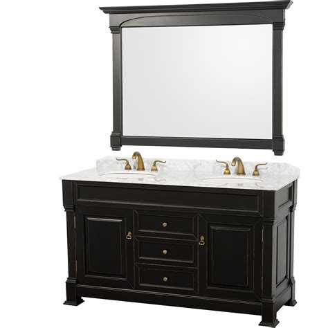 white bathroom vanity with carrera marble top wyndham collection wcvtd60blcw andover 60 double bathroom