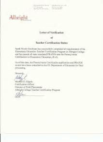 Certification Letter Of Confirmation Professional Development