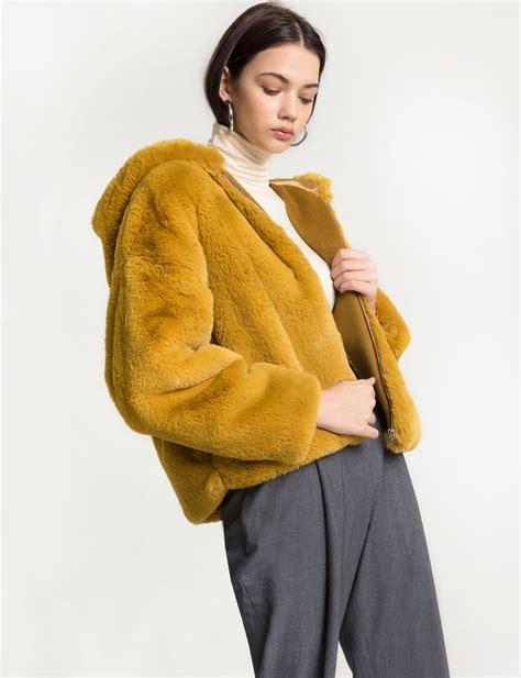 Parka Mustard Dina Fashion 1 mustard faux fur jacket pixie market