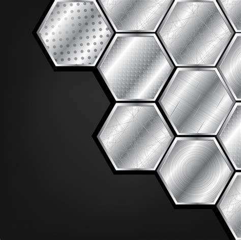 honeycomb pattern ai free metallic polygonal background honeycomb icon various