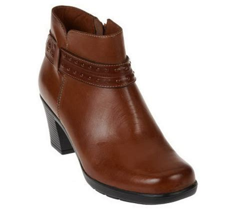 clarks bendables leather ankle boots w