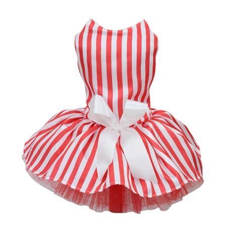 Dress Polkadot Ribbon small pet princess polka dot ribbon stripe dress