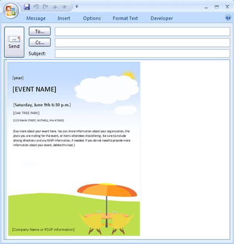 free email invite templates free printable invitations of e mail message