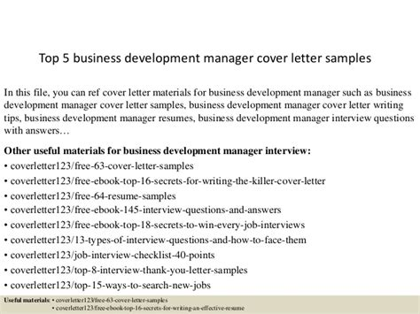 business development manager cover letter top 5 business development manager cover letter sles