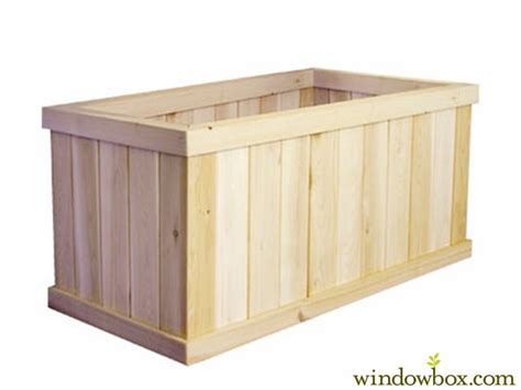 Large Cedar Planter Box by Slatted Cedar Large Wooden Planters