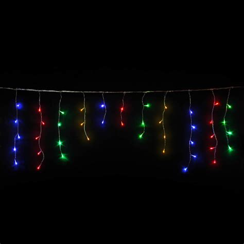 multicolour icicles led christmas lights icicle lights