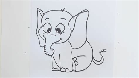 easy drawing how to draw simple elephant