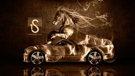 Pictures Mustang Horse With Smoke | ford mustang gt fantasy horse smoke car 2014 el tony