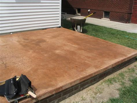 colors stained concrete patio photo landscaping