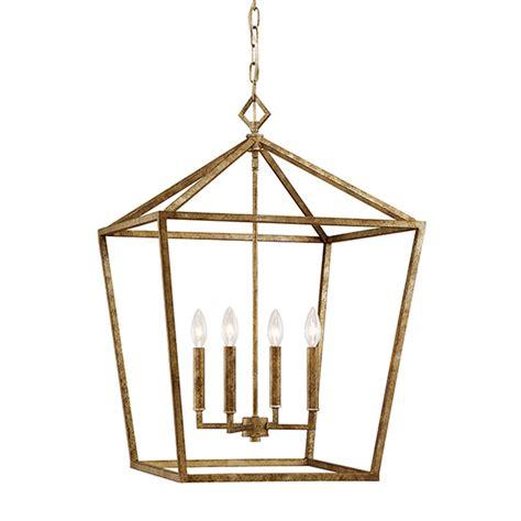 Cage Lighting Pendants Shop Millennium Lighting 20 In Vintage Gold Vintage Single Cage Pendant At Lowes