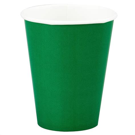 Paper Cups - green paper cup 12oz