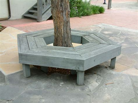 how to make a bench around a tree gray bench around tree