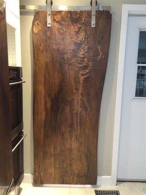 Cherry Dining Room Chairs live edge door wood slab doors sliding track doors