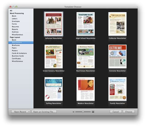 iphoto card templates create a newsletter with pages or iphoto macworld