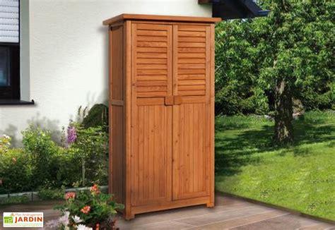 armoire bois jardin armoire de jardin bois 43x80x160 weka