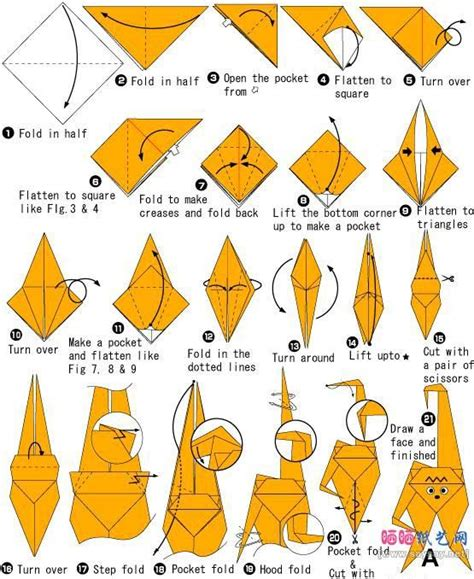 Origami Tiger Step By Step - 3662 best origami images on origami paper