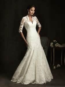 slim a line v neck sheer back ivory lace wedding dress