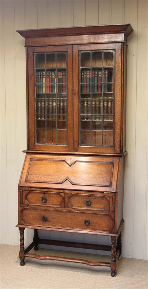 bureau bookcase light oak bureau bookcase 235998 sellingantiques co uk