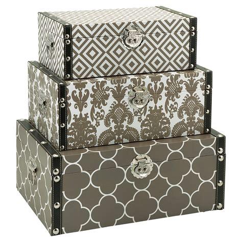 Printed Storage Box essentials printed storage boxes set of 3 at hayneedle