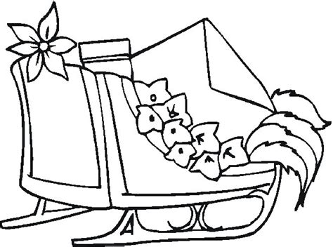 coloring page one open sleigh free coloring pages
