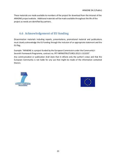 ariadne initial dissemination plan