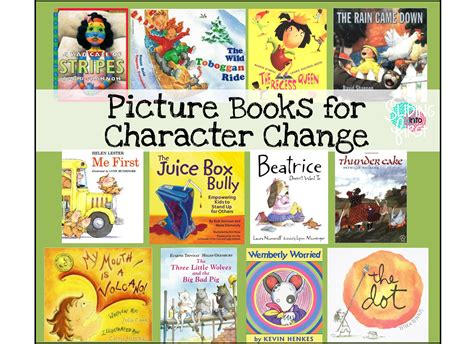 picture books character traits sliding into shared reading fiction story elements