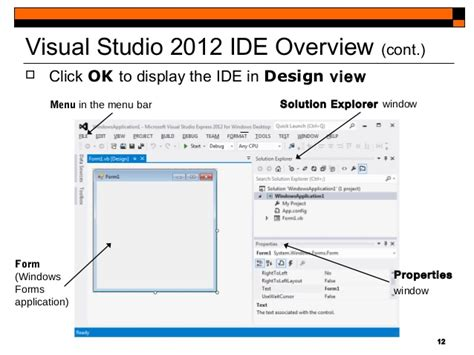 design form visual studio 2012 visual studio 2012 course blackboard tic