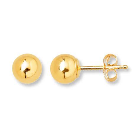 stud earrings 5mm 14k yellow gold 392775401