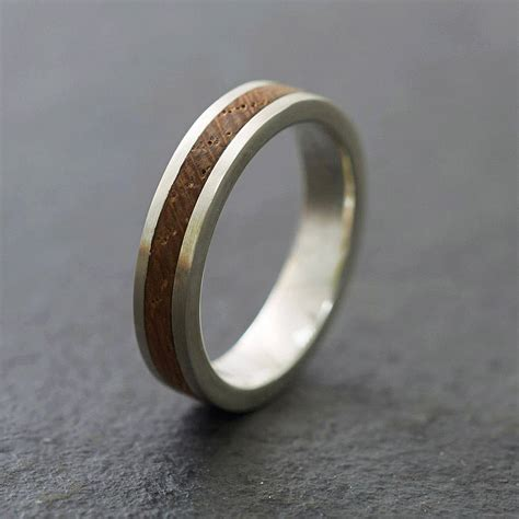 silver and wood ring by shiruba tree
