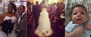 Bride straps newborn to wedding dress drags down the aisle page 2