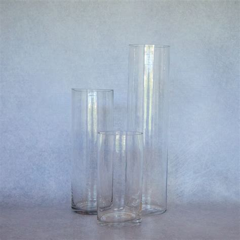 20 Glass Cylinder Vases by 20cm Cylinder Glass Vase Flamboijant Decor Hire