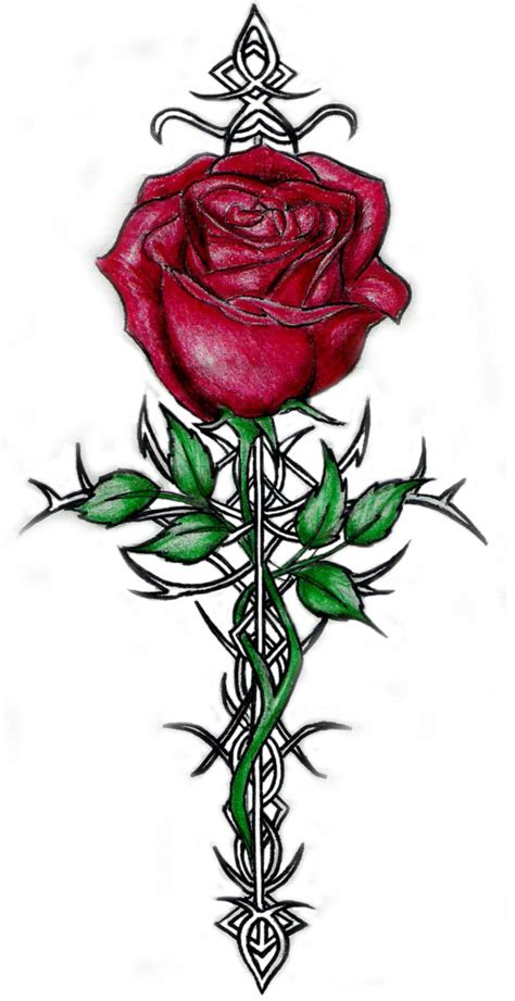 rose thorn tattoo designs tattoos of roses with thorns and tattoos cool