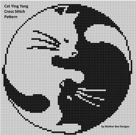 name pattern for cross stitch cat ying yang cross stitch pattern cross stitch stitch
