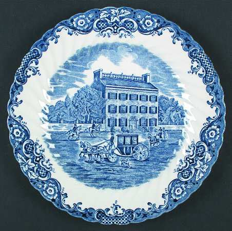 blue heritage pattern dishes johnson brothers heritage hall blue at replacements ltd