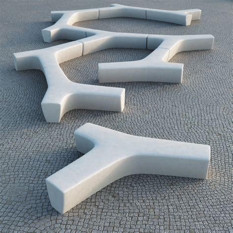 escofet bench twig modular bench escofet 3d model