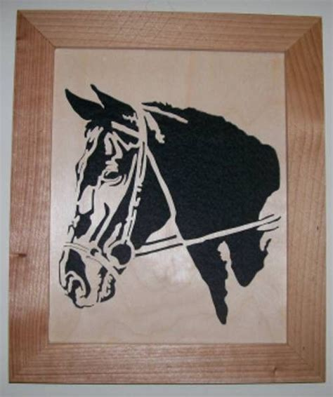 horse  wood scroll  portrait   horse head ss