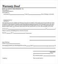 deed template free sle warranty deed form template 9 free documents in