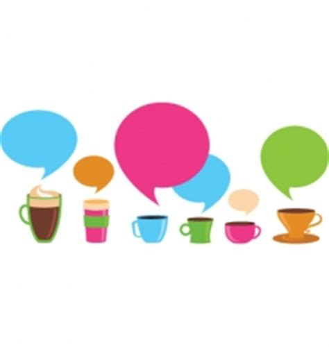 Dialog With Coffee dialog bubbles royalty free vector image vectorstock