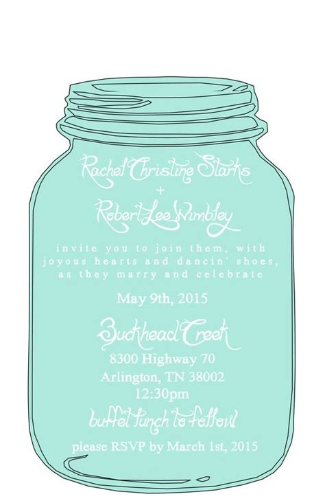 Wedding Invitation 12 X Jpegs by Jar Wedding Invitations Template Www Imgkid