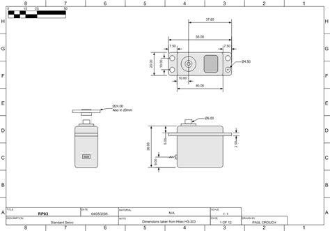 dimensions of a hobby servo dimensions