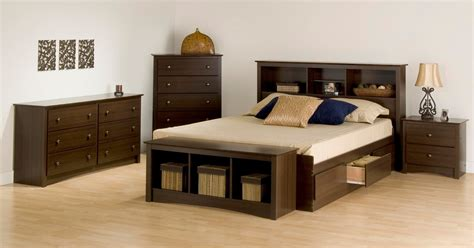 bedroom set with storage bed prepac fremont 4 pc queen size storage bedroom set in