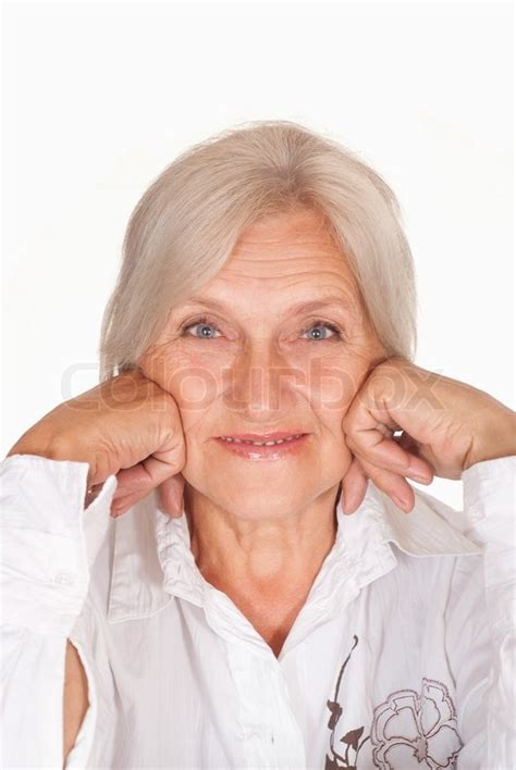 46 old white woman picture beautiful older woman on a white stock photo colourbox