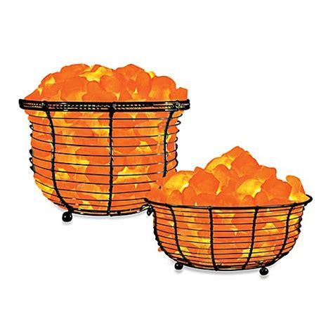himalayan glow salt l himalayan glow 174 ionic crystal salt basket l bed bath