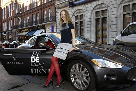 maserati woman supporting woman against cancer at london fashion scoop news