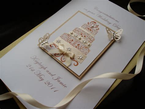 Handmade Luxury - luxury handmade wedding card cake handmade cards pink